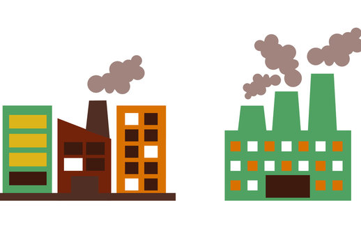 9 Color Industrial Building Icons