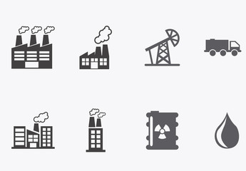 54 Grayscale Energy and Commodities Icons