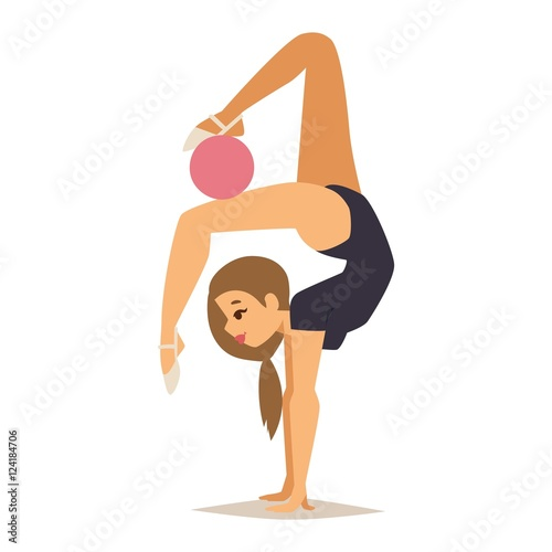 how to draw a cartoon gymnast