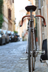 Bicycle in the street of rome