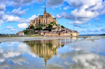 Le Mont-Saint-Michel island, Normandy, France