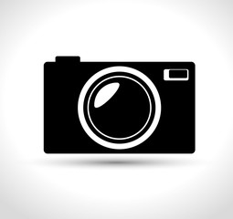 compact photo camera black design, vector illustration graphic