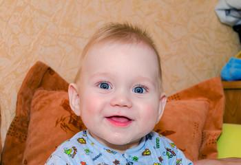 Beautiful smiling baby boy