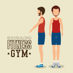 man pose different bodybuilding fitness gym icon design vector illustration eps 10
