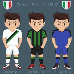 Sassuolo Soccer Club Kits 2016/17 Serie A