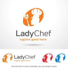 Lady Chef Logo Template Design Vector