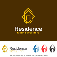 Residence Logo Template Design Vector