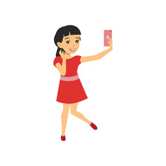 Selfie People Cartoon