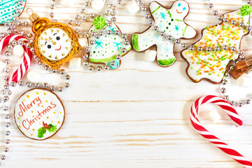 Christmas cookies and candy cane