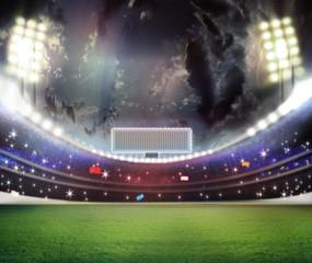 stadium in lights