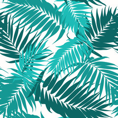 Tropical camouflage seamless background green blue