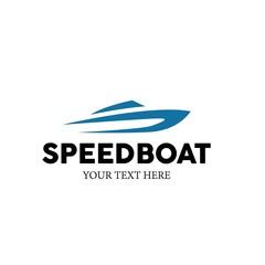 Speed Boat Vector Logo Design
