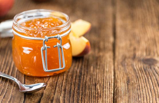 Portion of Peach Jam (close-up shot)