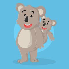 koala and  its son