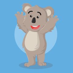 koala illustration vector illustration design