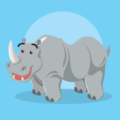 rhino character vector illustration design