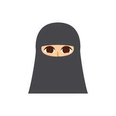 Female Profile Picture. Isolated and minimalistic