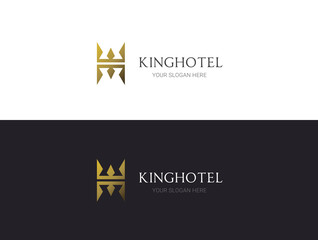 Crown logo, king royal logo template, luxury logo