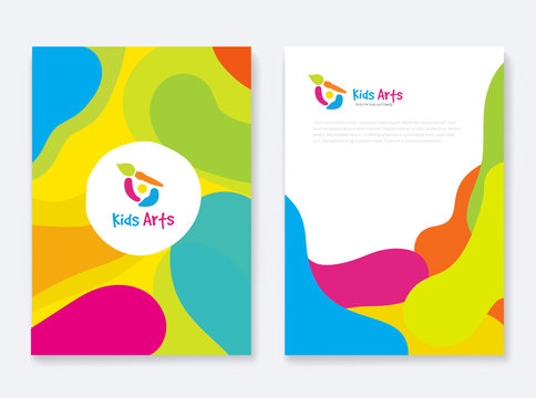 Company Document Cover Design Set for school ,kids logo, education and arts