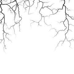 Thunder bolts vector frame in black white
