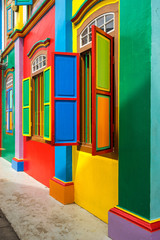 Colorful House of Tan Teng Niah in Little India, Singapore