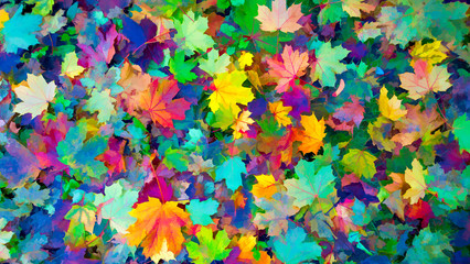 Colored leaves of autumn Autumn background, Colors of Fall