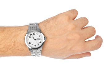 Hand and watch