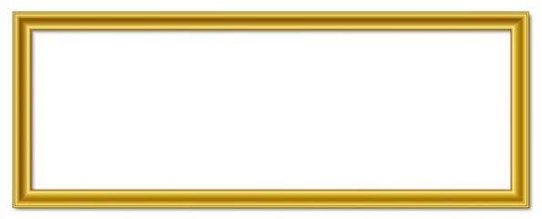 3to1 3:1 panorama wide golden vector retro picture frame isolated on white background / 3 zu 1 bilderrahmen breit gold vektor retro