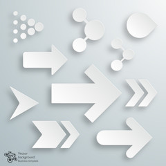 White Arrow Buttons #Vector Graphics