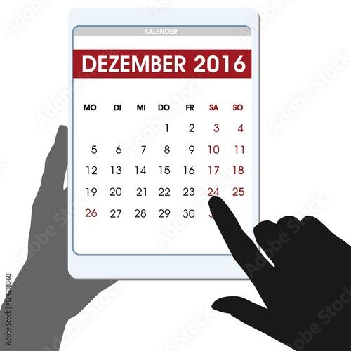 kalender monat dezember 2016 hinweis auf weihnachten obraz w stockowych i plik w wektorowych. Black Bedroom Furniture Sets. Home Design Ideas