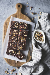 Hazelnut ganache brownie