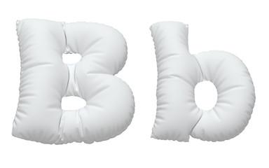 White pillow font.