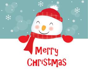 auguri di buon natale, pupazzo di neve