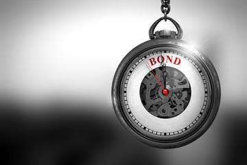 Bond on Watch. 3D Illustration.