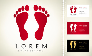 Footprint vector logo