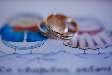 beautiful gold wedding rings for bride and groom