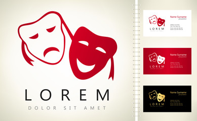 Theatrical masks vector logo