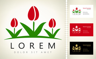 Tulips symbol vector illustration