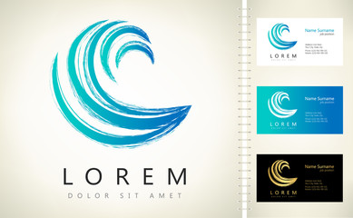 Wave vector symbol. Business Icon.