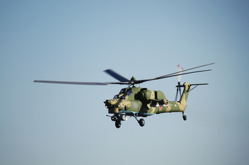 ROSTOV-ON-DON, RUSSIA -  JULY 01, 2014: Russian Air Force Mil Mi