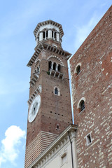 Bell tower in Verona Italy