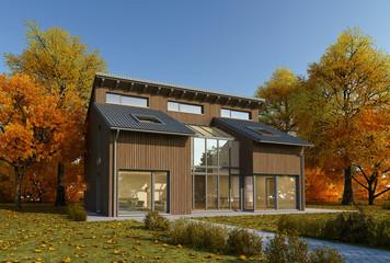 Holzhaus Herbst 1