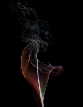 colorful smoke wisp