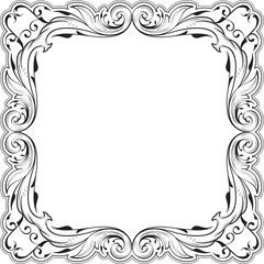 Decor fine art swirl frame