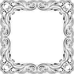 Decor fine art swirl greeting frame