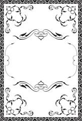 Greeting art nice ornate page