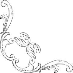 Ornate corner art nice swirl element