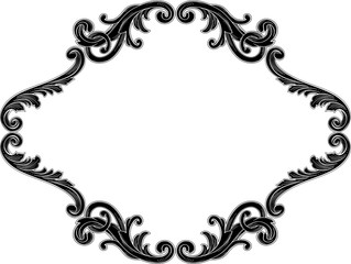 Ornate decor swirl black page