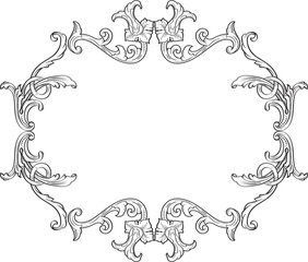 Ornate decor swirl frame