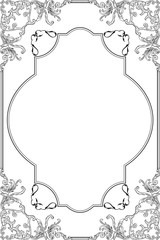 The baroque fine art ornate frame